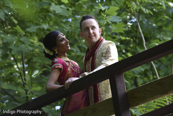 Dreamy Indian bride and groom photo shoot.
