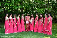 indian bride,bridesmaids,indian wedding photography