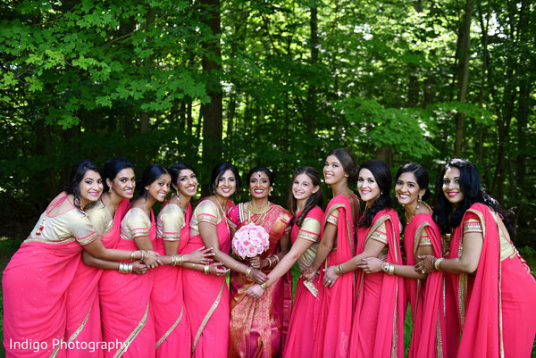 Gorgeous bridal party.