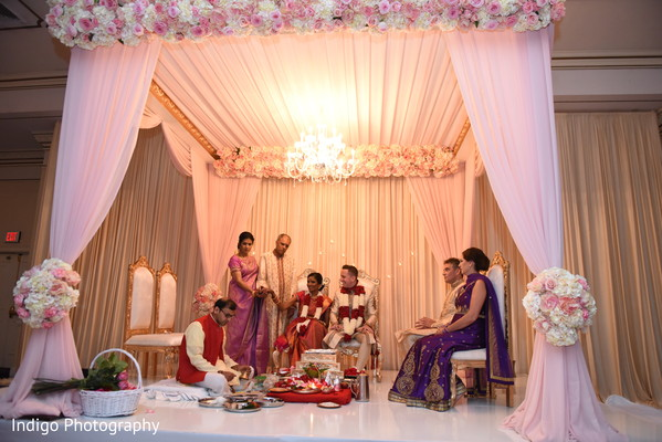 indian wedding ceremony,indian bride,indian groom,mandap,floral and decor