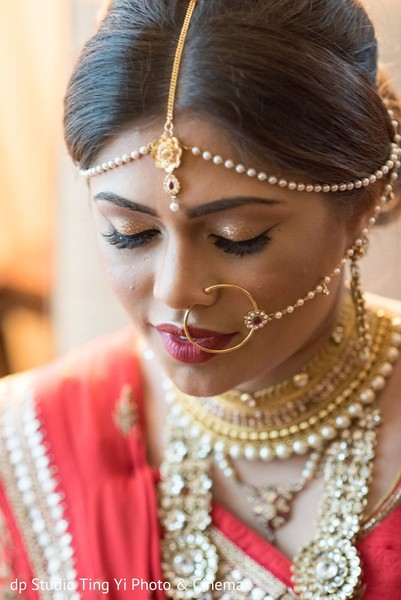indian bride,getting ready,indian bridal makeup