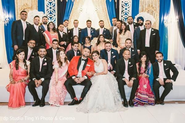 indian wedding reception,indian groomsmen,india bridesmaids,reception fashion