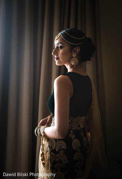 Indian bride pre-wedding fashion.