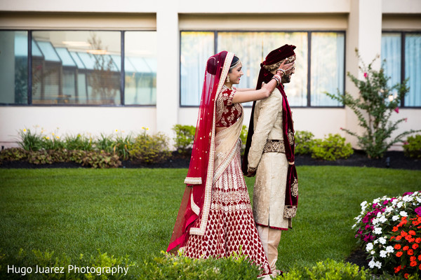 indian bride lengha,indian groom fashion,indian bride and groom portrait