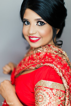 indian bride hair and makeup,pre-wedding ceremony photography,indian bride ceremony fashion