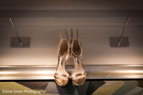 Bridal shoes.