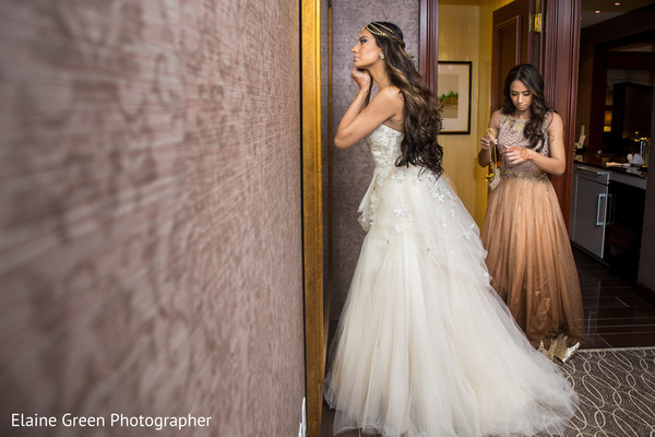 getting ready,white wedding dress,hair and makeup