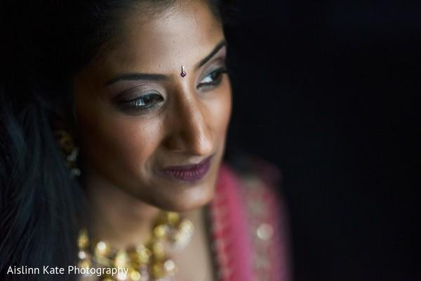 Flawless bridal makeup.