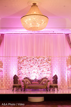 lighting,wedding floral and decor,indian wedding stage