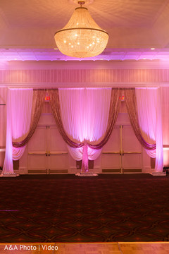 reception venue,lighting,draping decorations