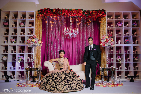 floral and decor,indian wedding reception,reception fashion