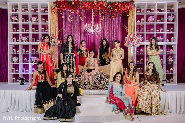 indian bride,indian wedding reception,reception fashion,bridesmaids