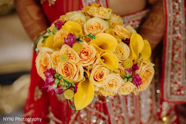 Yellow bridal bouquet.