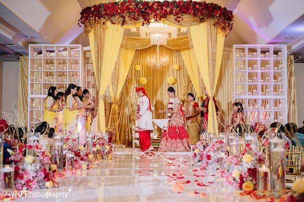 Glamorous Indian wedding.