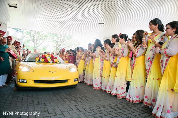 Fabulous modern Indian wedding transportation.