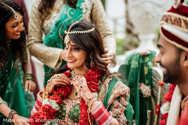 indian bride,bridal hair,bridal attire