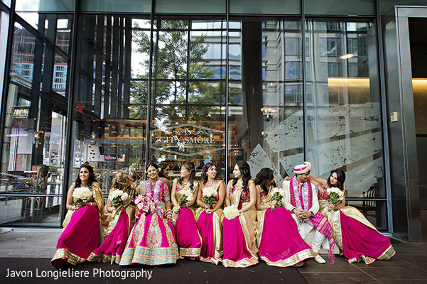 indian bridesmaids,indian bride,indian groom,indian wedding photography