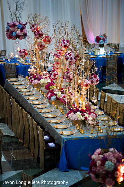 floral and decor,indian wedding reception,floral centerpieces