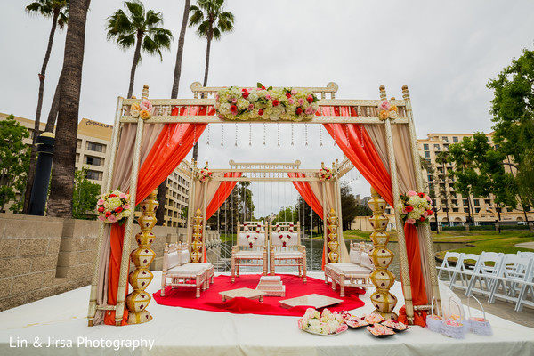 indian wedding ceremony,mandap,floral and decor,venue