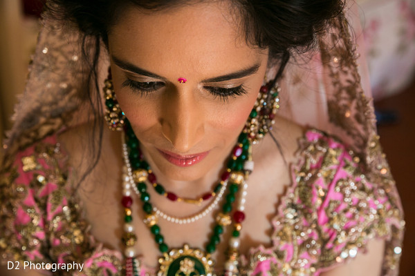 Indian bride photography before wedding ceremony