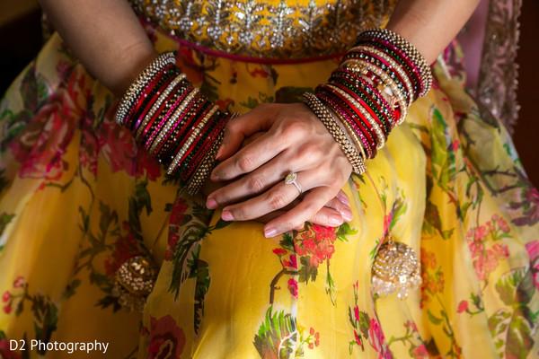 bride bangles,engagement ring,indian bride fashion