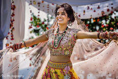 Indian bride photo session after wedding ceremony