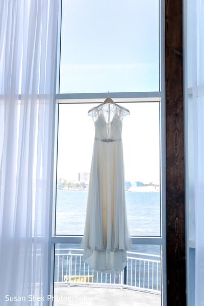 Stunning white wedding gown