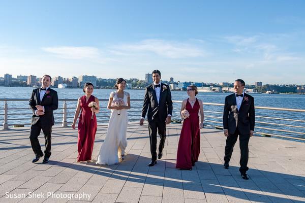 Elegant bridal party portrait.