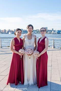 indian fusion wedding,bridesmaids,indian bride,white wedding dress