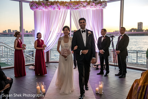 Dreamy Indian fusion wedding ceremony.