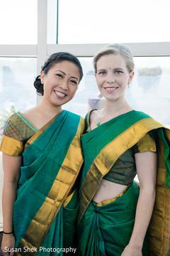 indian fusion wedding,bridesmaids,indian wedding ceremony