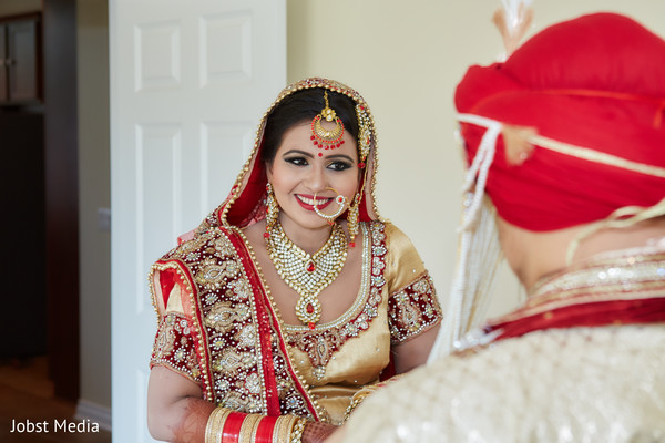 first look photography,indian bride hair and makeup,bride bangles