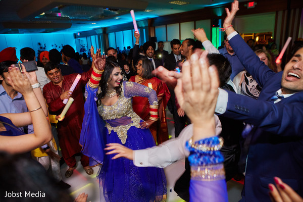 dj and entertainment,indian bride lengha,indian wedding reception photography