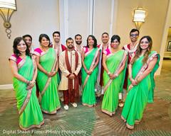 sari,green sari