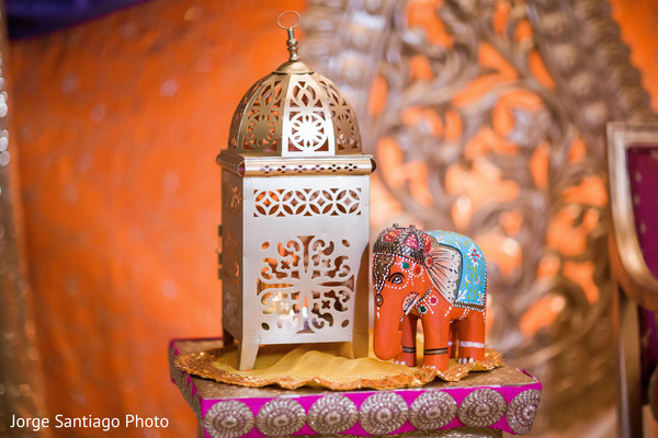 Lovely decor at sangeet ceremony in Pittsburgh, PA Indian Wedding by Jorge Santiago Photography