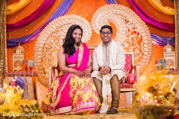 indian bride and groom,sangeet,indian wedding planning and design