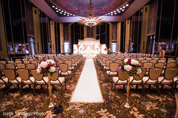 Indian wedding ceremony about to start in Pittsburgh, PA Indian Wedding by Jorge Santiago Photography