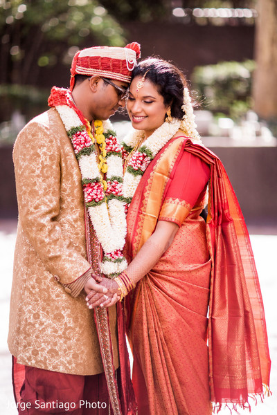 Indian couple outdoor photography after wedding ceremony in Pittsburgh, PA Indian Wedding by Jorge Santiago Photography