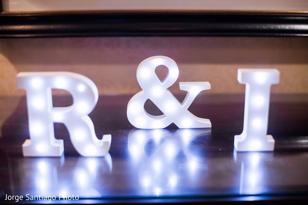 Indian couple initials at wedding reception in Pittsburgh, PA Indian Wedding by Jorge Santiago Photography