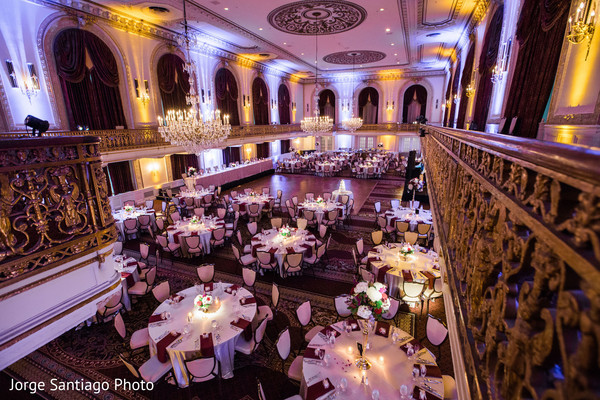 Indian wedding reception before everybody arrived in Pittsburgh, PA Indian Wedding by Jorge Santiago Photography