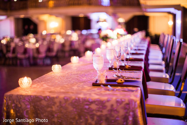 Lovely table at indian wedding reception in Pittsburgh, PA Indian Wedding by Jorge Santiago Photography
