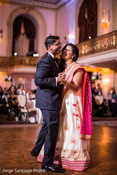 Lovely bridal lengha in Pittsburgh, PA Indian Wedding by Jorge Santiago Photography