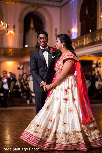 Reception fashion inspiration in Pittsburgh, PA Indian Wedding by Jorge Santiago Photography