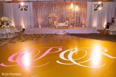 indian wedding reception,floral and decor,stage,dance floor,lightning