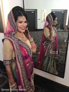 indian bride,getting ready,indian bride fashion