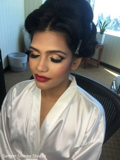 getting ready,indian bride,indian bride hair and makeup