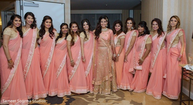 saris,indian bride,indian bridesmaids