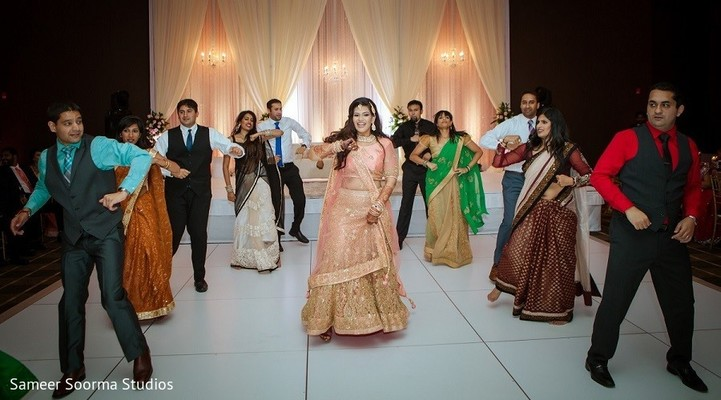indian wedding reception,indian bride,choreography,dj and entertainment