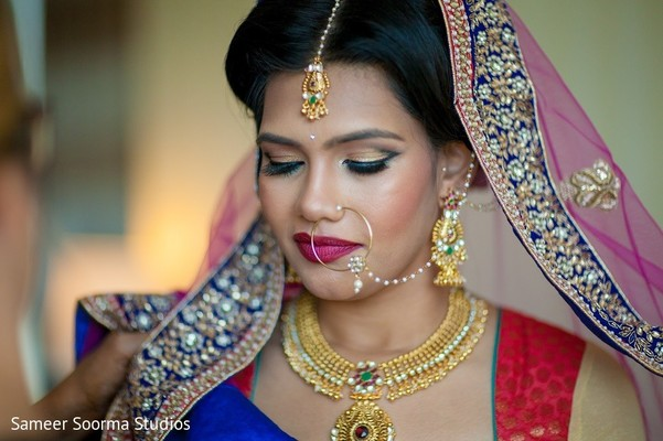 Inspiring Indian bride look. in Redwood City Indian Wedding by Sameer Soorma Studios