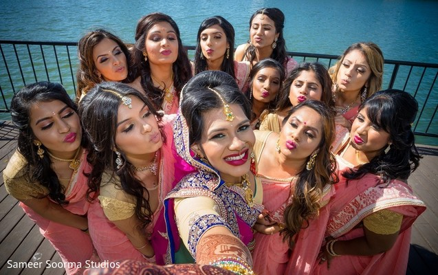 indian bridesmaids,indian bride,ceremony fashion,portrait